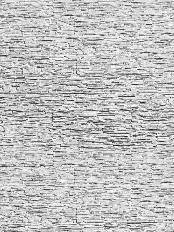 Гипсовая плитка Сланец слоистый Белый
