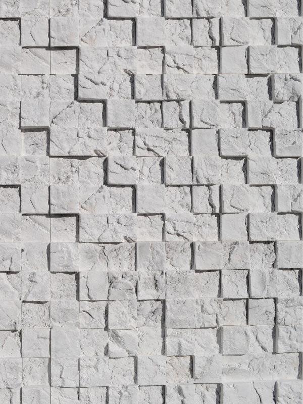 Гипсовая плитка 3D Мозаика Белая скала
