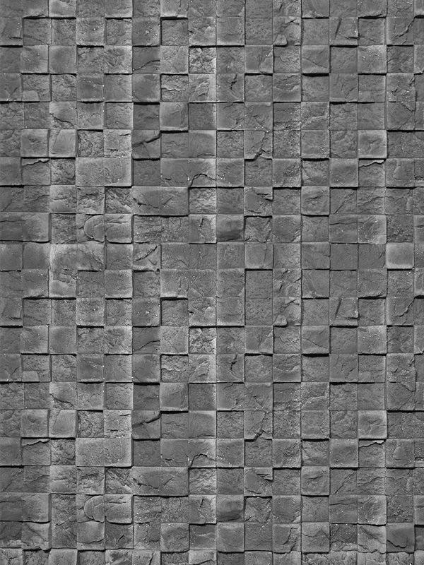 Гипсовая плитка 3D Мозаика Графит