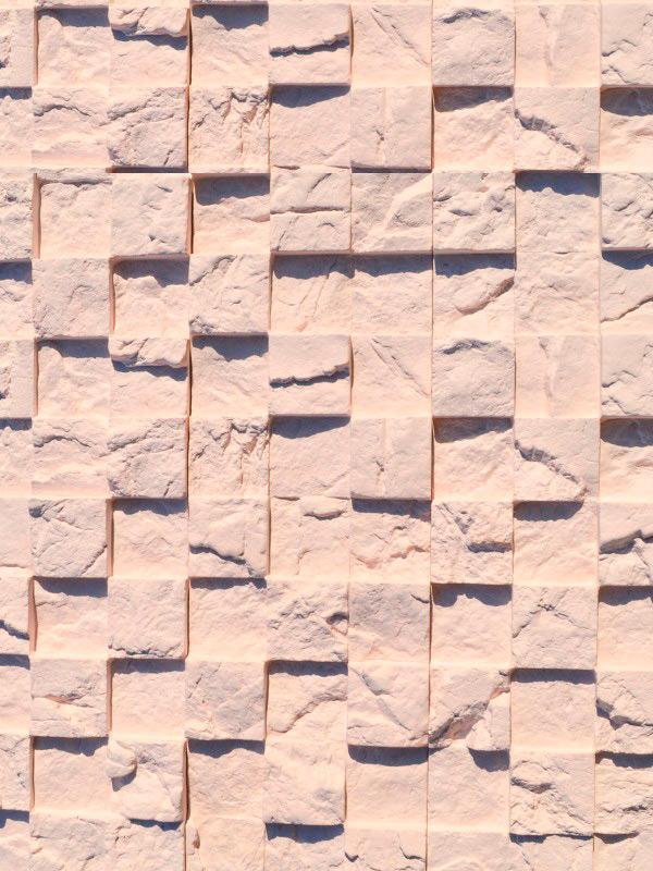 Гипсовая плитка 3D Мозаика Кремовый