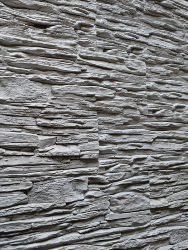 Гипсовый камень Сланец тонкослойный Светло-серый