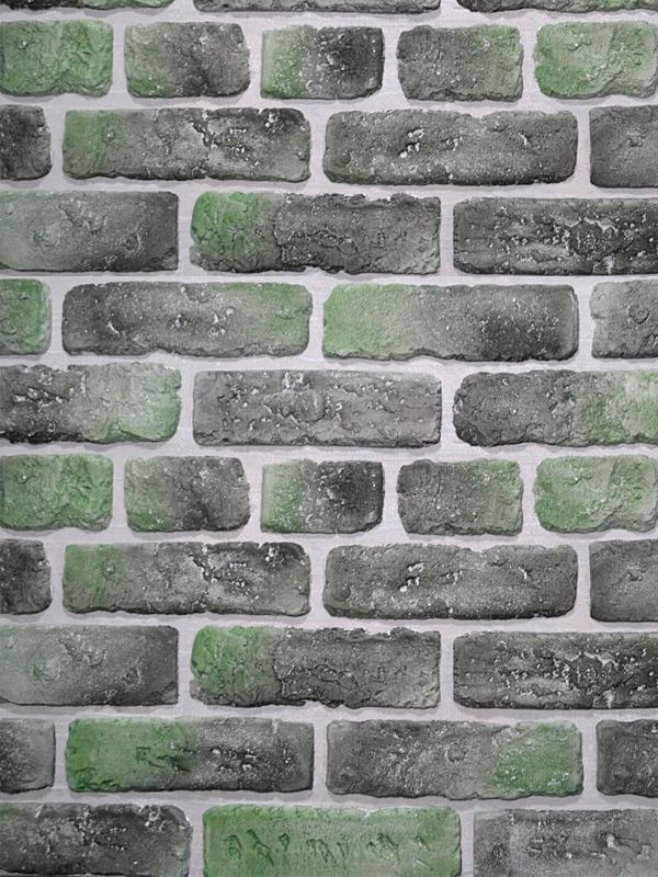 Гипсовый кирпич Выветренный Зеленый лофт